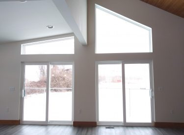 Drywall Wrapped Sliding Glass Doors and Trapezoid Windows in Ann Arbor II